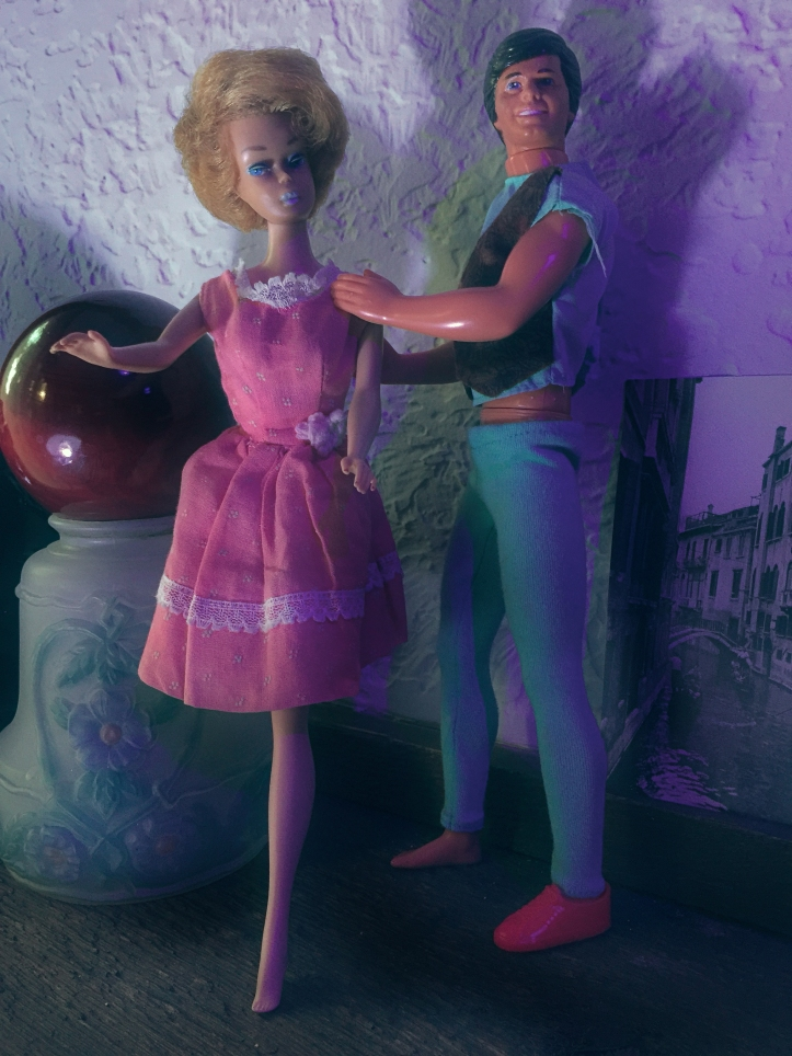 Barbie and Ken step out for the evening.