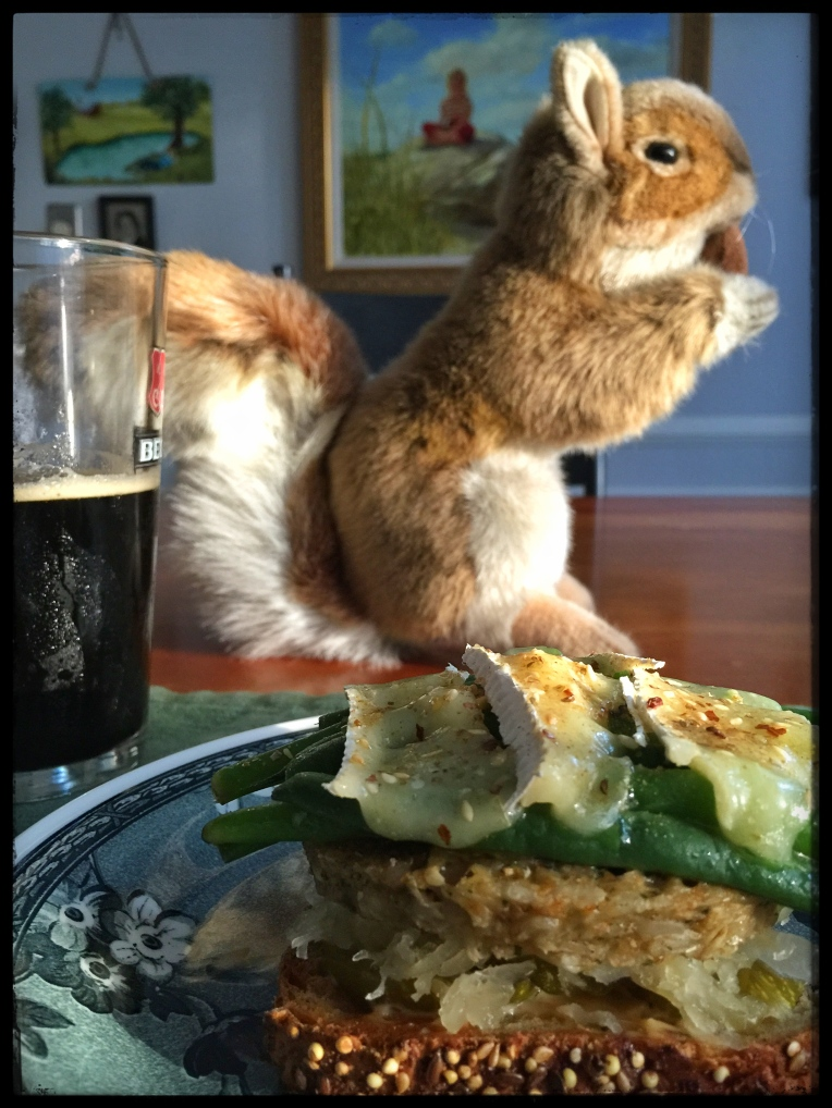 Mr. Squirrel joins me for Dinner