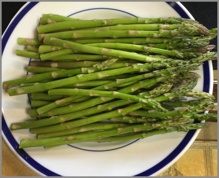 Fresh asparagus. Delicious greeness.