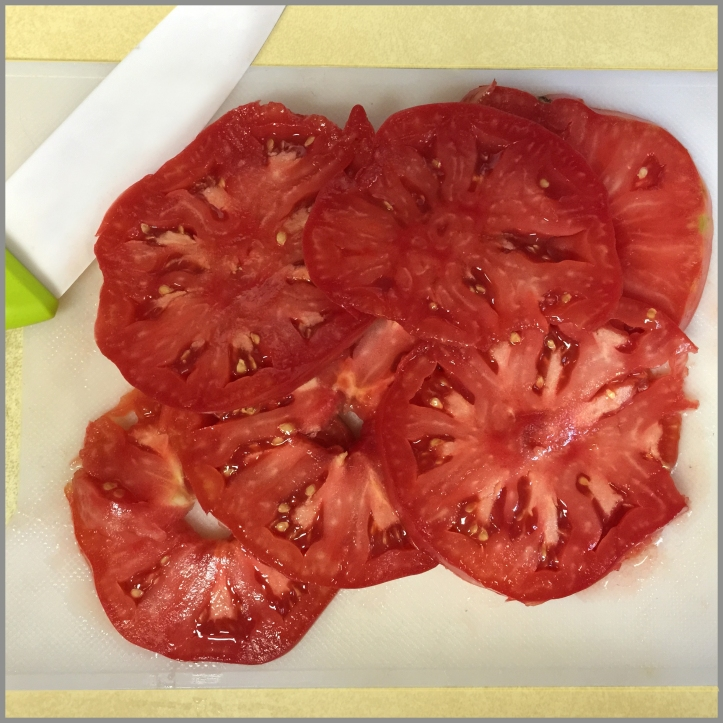 Wonderful heirloom tomato sliced